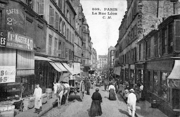 4 -Rue Léon (croisement rue Myrha, direction Nord)
